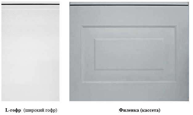 Тип панели ворота классик