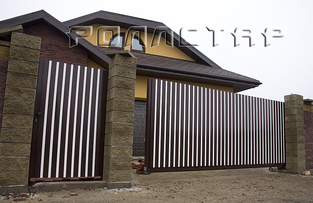 алюминиевые ворота откатные